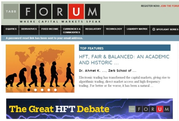 HFT, Fair & Balanced: An Academic and Historic Perspective by Dr. Karagozoglu, TABB Forum June 12, 2014