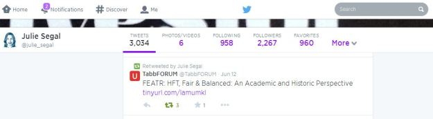 Julie Segal Senior Writer, Institutional Investor Magazine - Tweet June 12, 2014